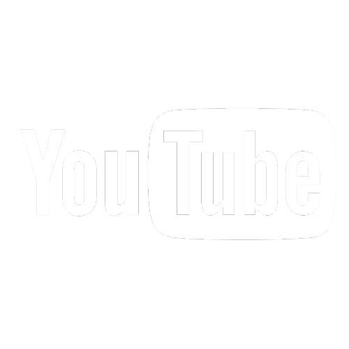 YouTube logo blanc